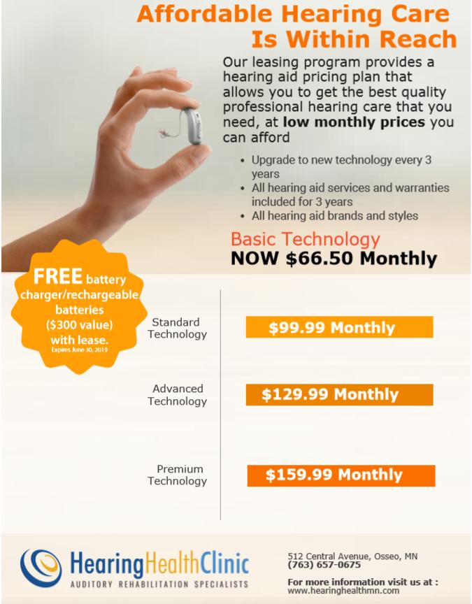 New Hearing Aid Leasing options!