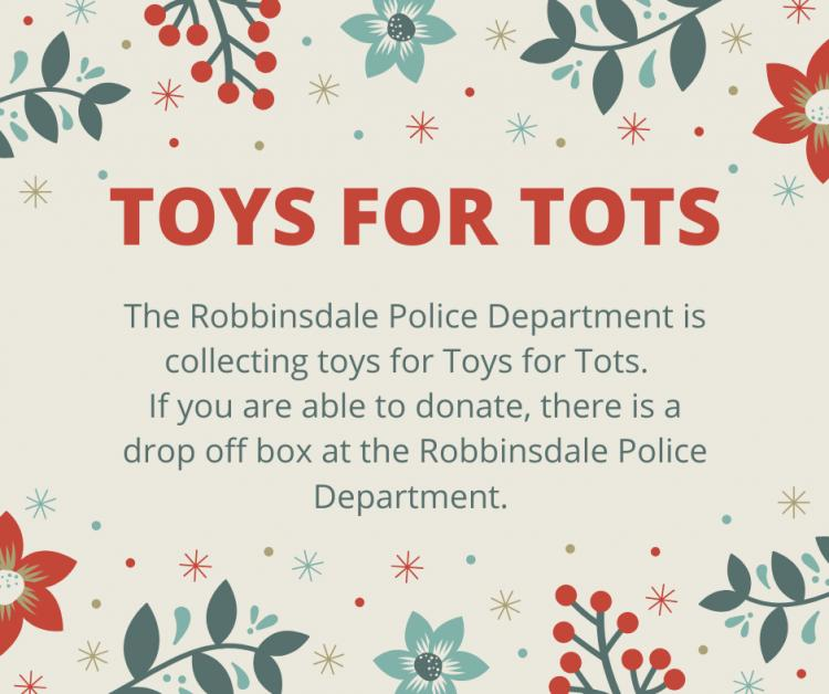 Robbinsdale - Police Department Toys for Tots Toy Drive