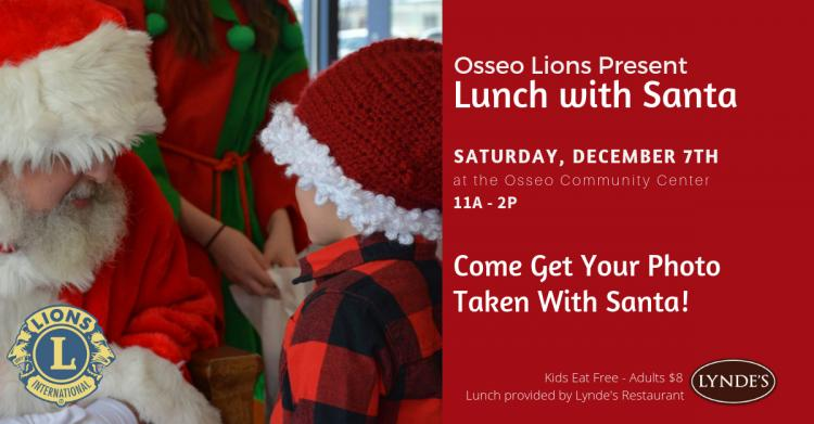 Osseo Lions Lunch with Santa