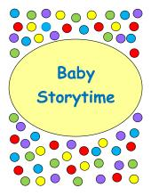 Crystal - Baby Storytime at Rockford Road Library