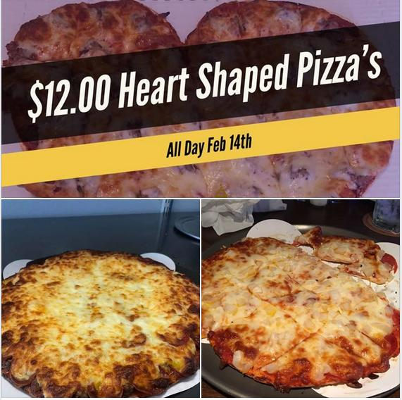$12 Heart Shaped Pizza's at Broadway!