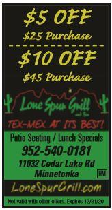 Lone Spur Bar & Grill - Minnetonka - Open for Carryout