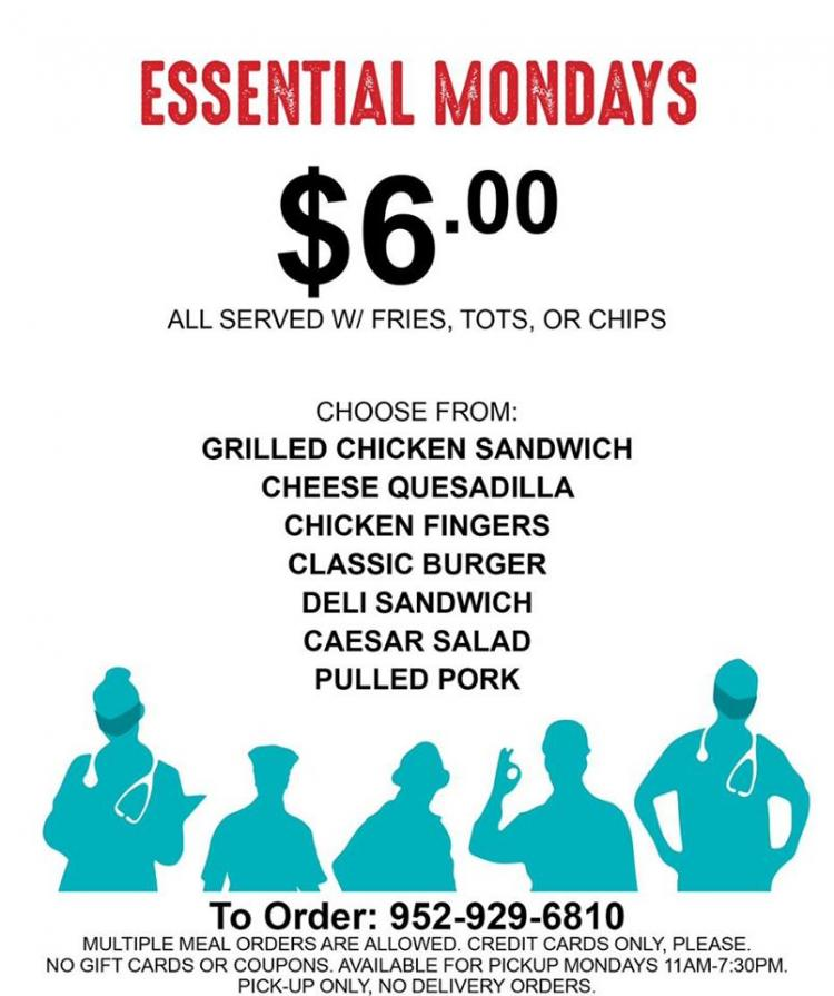 Essential Monday at Park Tavern - Discounts for Essential Workers