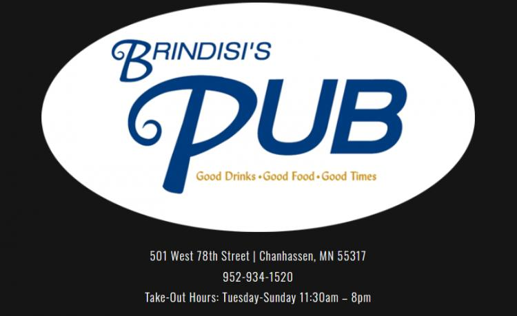 Brindisi's Pub is OPEN for carryout & (limited) delivery