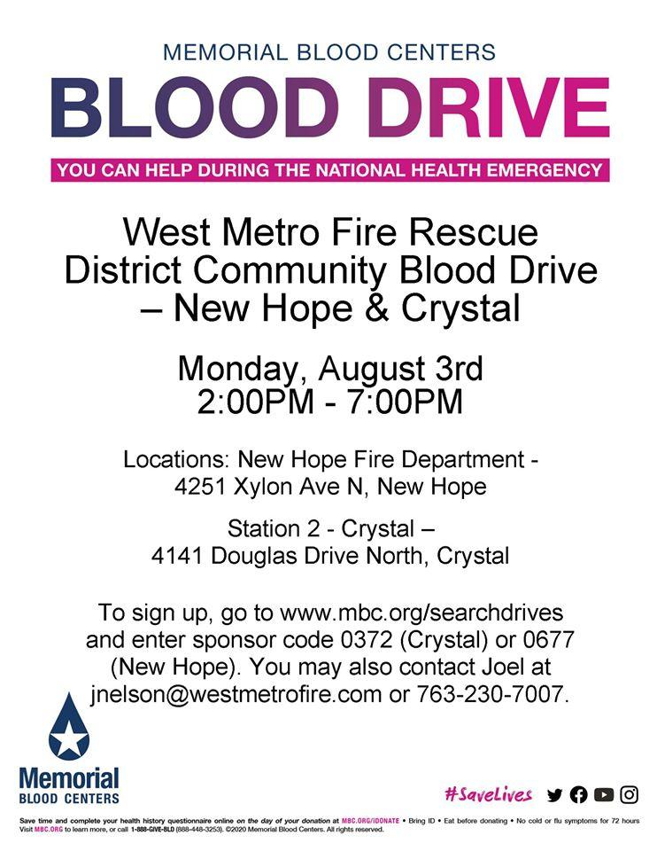 West Metro Fire-Rescue District Blood Drive