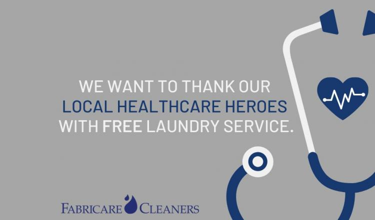 Free Laundry Service for Healthcare workers - from Fabricare Cleaners