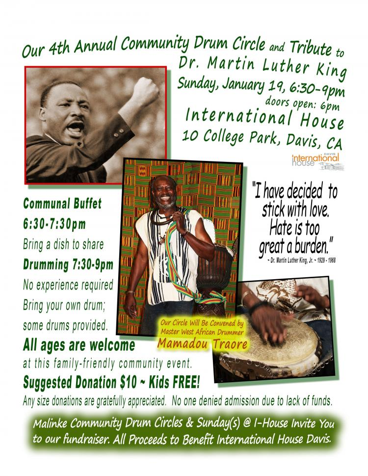 4th Annual Community Drum Circle & Tribute to Dr. Martin Luther King