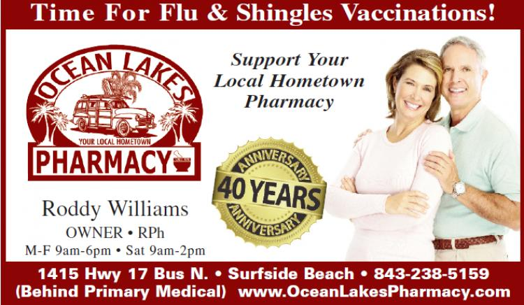 Get Your Flu & Shingles Vaccinations at Ocean Lakes Pharmacy