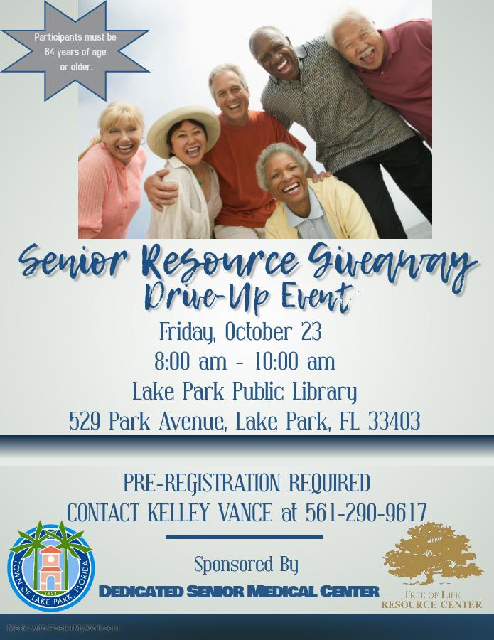 SENIOR RESOURCE GIVEAWAY DRIVE-UP EVENT