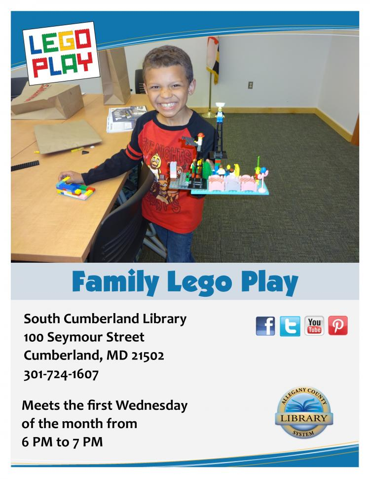 Family Lego Play at South Cumberland Library, 6PM
