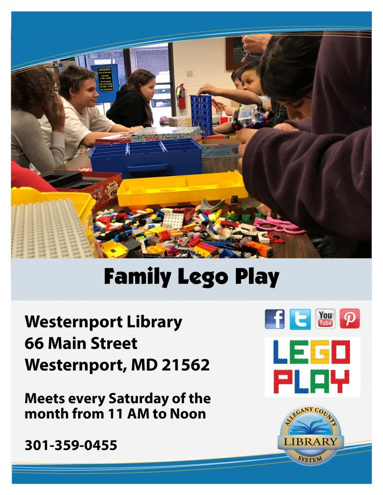 Family Lego Play at the Westernport Library