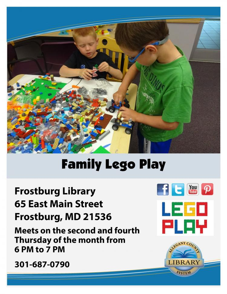 Family Lego Play at the Frostburg Library