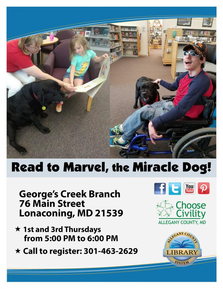 Read to Marvel at the George's Creek Library, 5PM