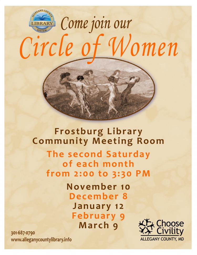 Circle of Women to gather at Frostburg Library