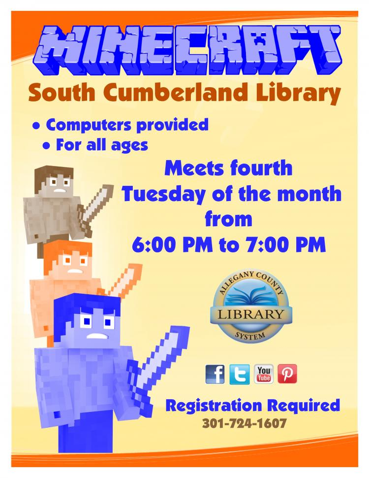 Minecraft at the South Cumberland Library