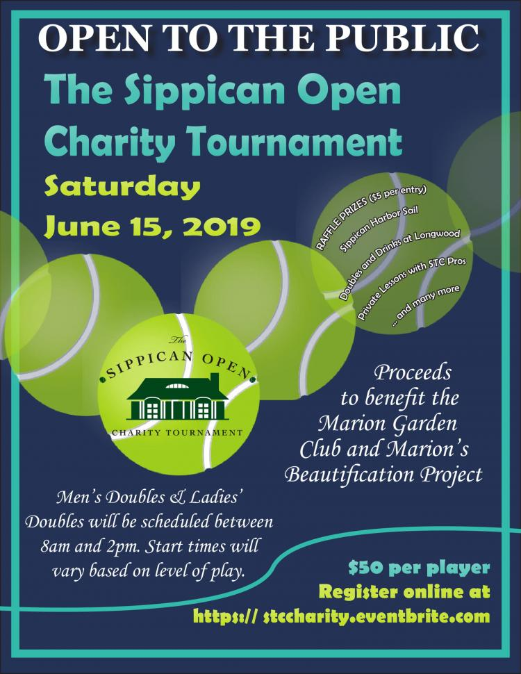 Sippican Tennis Club to Host Charity Tournament June 15