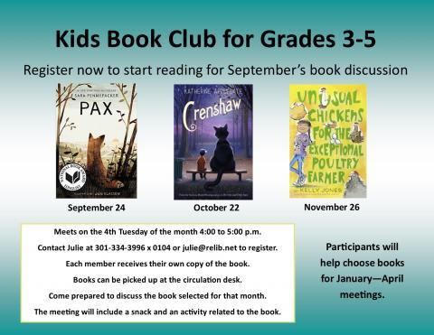 The Ruth Enlow Library Kid's Book Club