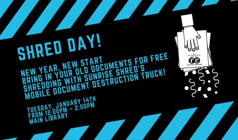 The Ruth Enlow Library Shred Day!