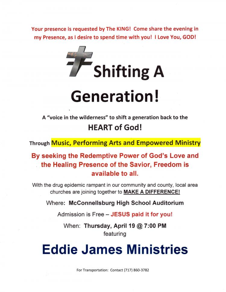 Eddie James Ministries - SHIFTING A GENERATION!