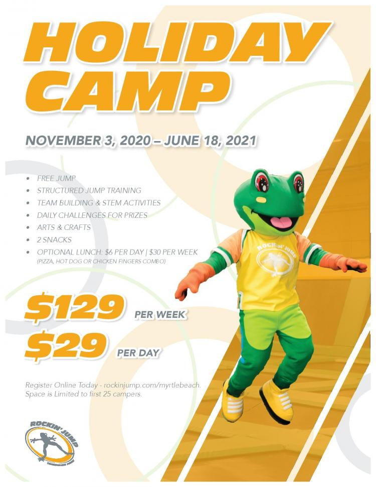 Holiday Camp at Rockin' Jump. Limited to 25 Campers.