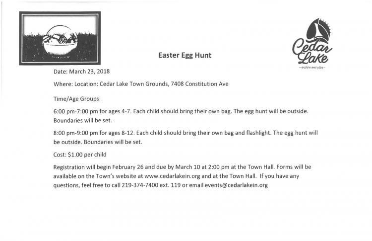 Easter Egg Hunt: Ages 4-7