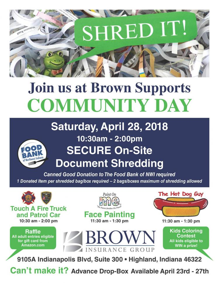 Brown Supports Community Day Shredding Event & Kids Activities