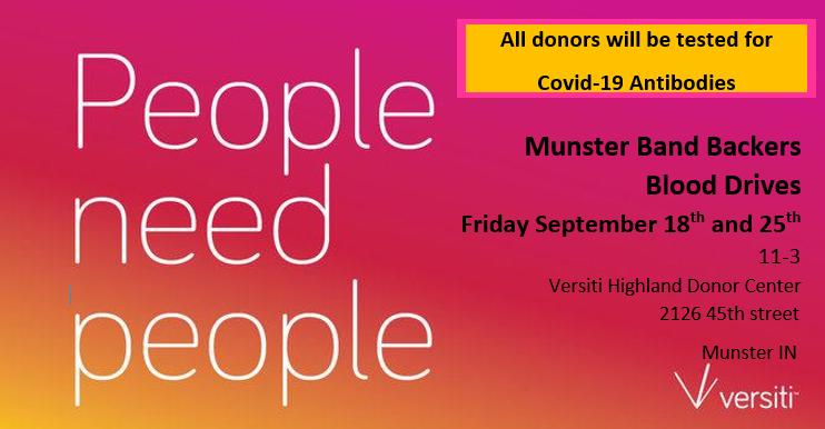 MUNSTER BAND BLOOD DRIVE