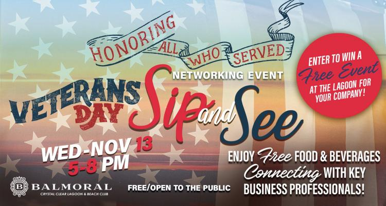 Veteran's Day Sip & See Corporate Networking Event