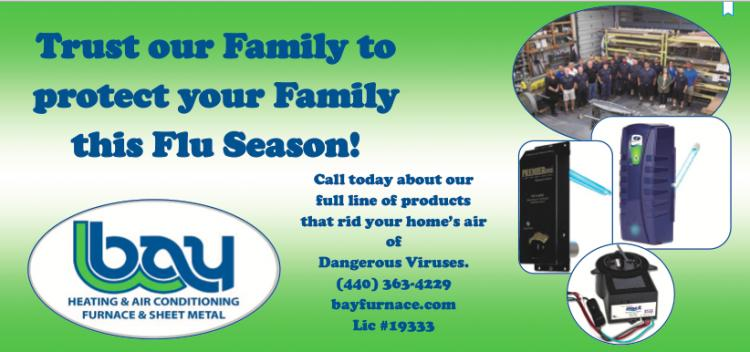 BAY HEATING & AIR CONDITIONING IS OPEN TO RID YOUR HOUSE OF DANGEROUS VIRUSES!