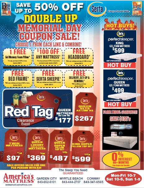 America's Mattress Memorial Day Coupon Sale thru June 15th