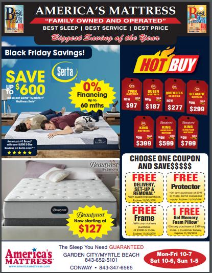 America's Mattress Biggest Savings of the Year SALE Going On Now