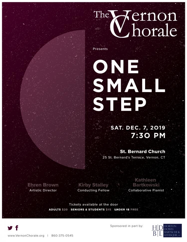 The Vernon Chorale presents One Small Step