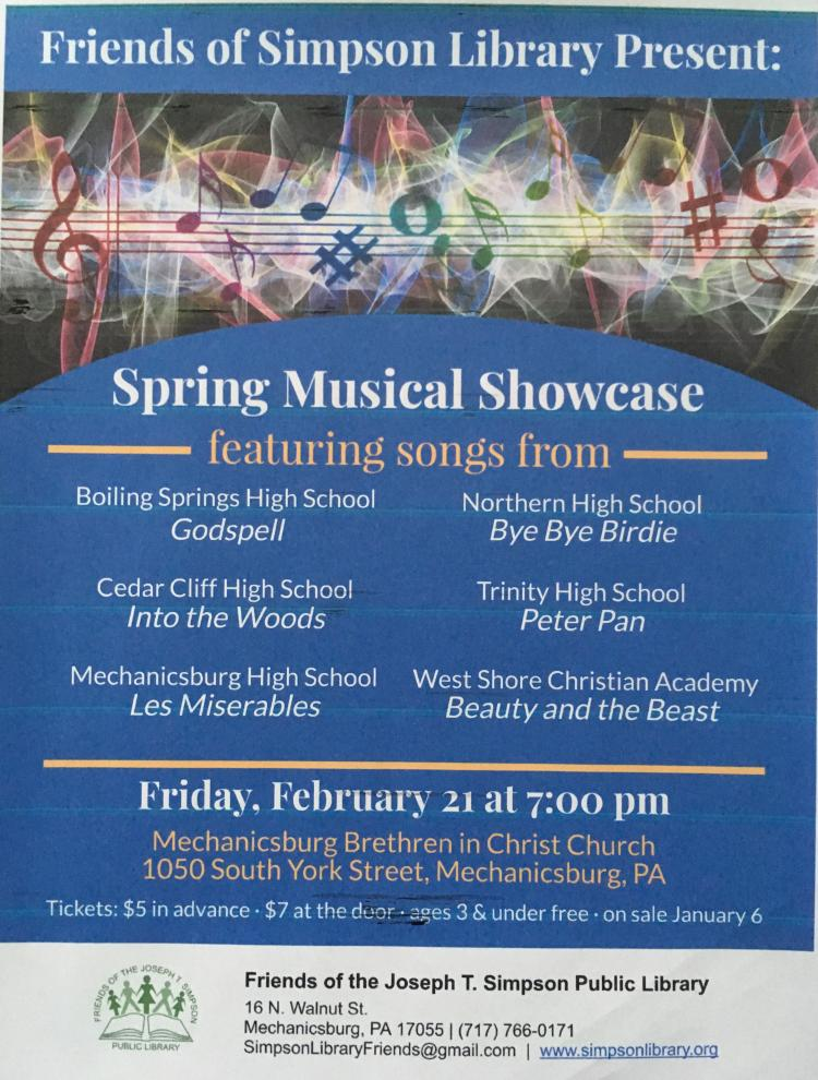 Spring Musical Showcase to Benefit Jos. T. Simpson Public Library
