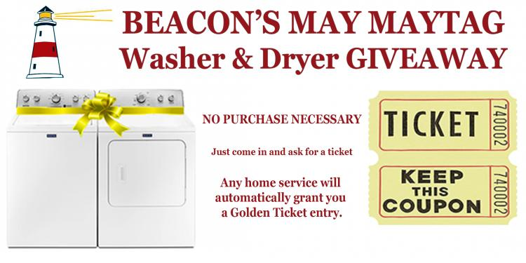 Beacon's Maytag Washer & Dryer GIVEAWAY!