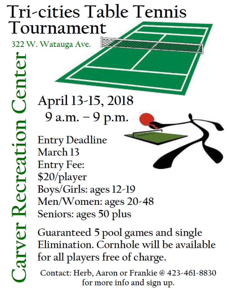 Tri-cities Table Tennis Tournament