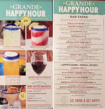 Happy Hour 4-7 Daily at Abuelo's Mexican Restaurant at Coastal Grand Mall
