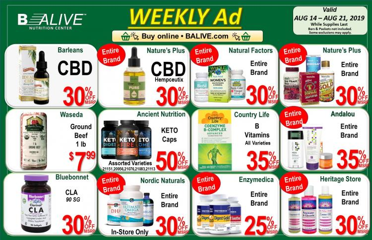 B-ALIVE JULY AD Aug 14 - Aug 21, 2019