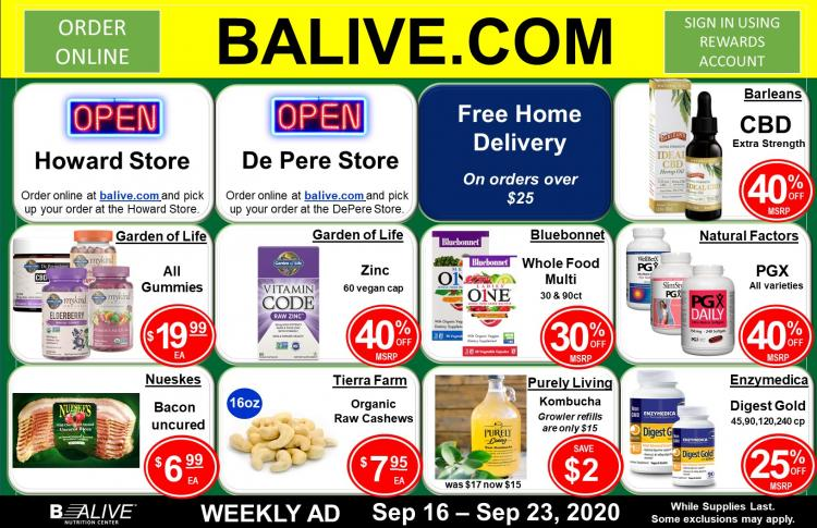 B-ALIVE Weekly Ad Sep 16 - Sep 23, 2020