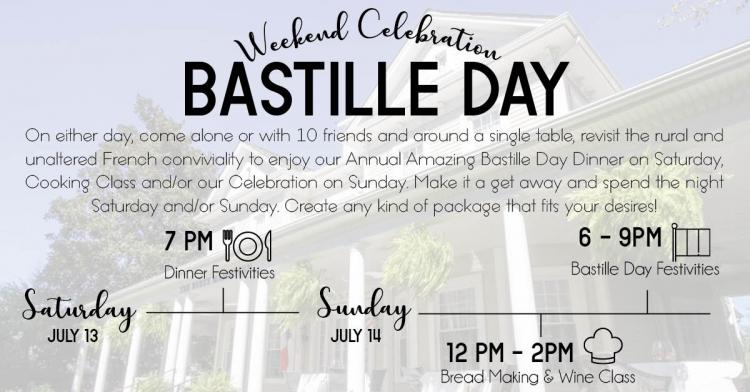 Bastille Day 2019 Weekend Celebration