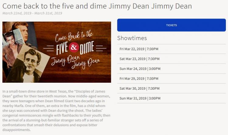 Come Back to the Five and Dime Jimmy Dean Jimmy Dean at
