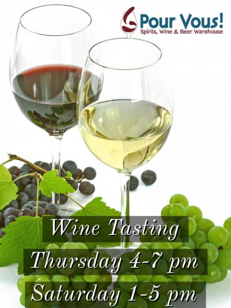 Thursday Free & Fun Wine Tasting - 4-7 pm at Pour Vous!