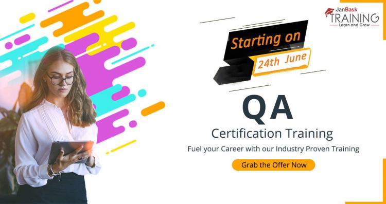 Get Certified with QA training Starting on 24 June