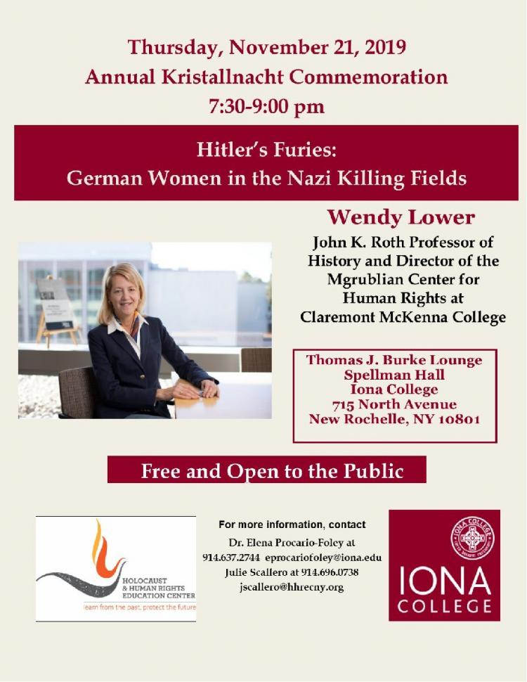 Holocaust & Human Rights Education Center and Iona College Annual Kristallnacht
