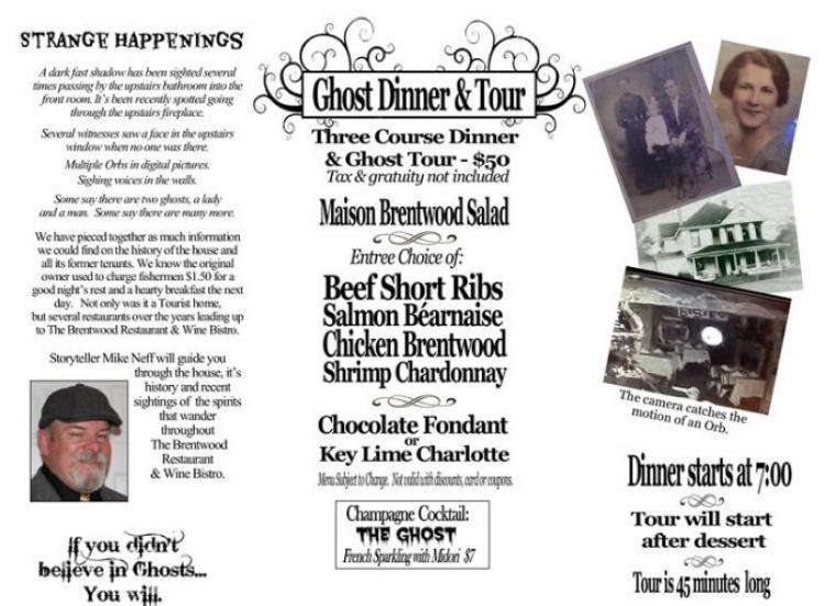 The Brentwood Restaurant Ghost Dinner & Tour