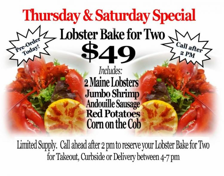 Brentwood Lobster Bake Takeout, Curbside & Delivery