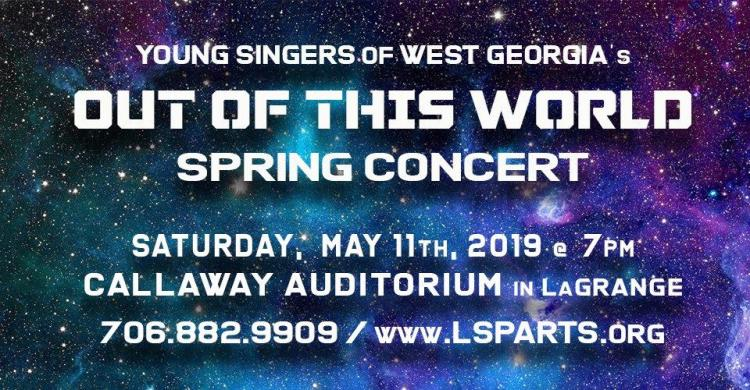 Young Singers of West Georgia: Out of This World Spring Concert