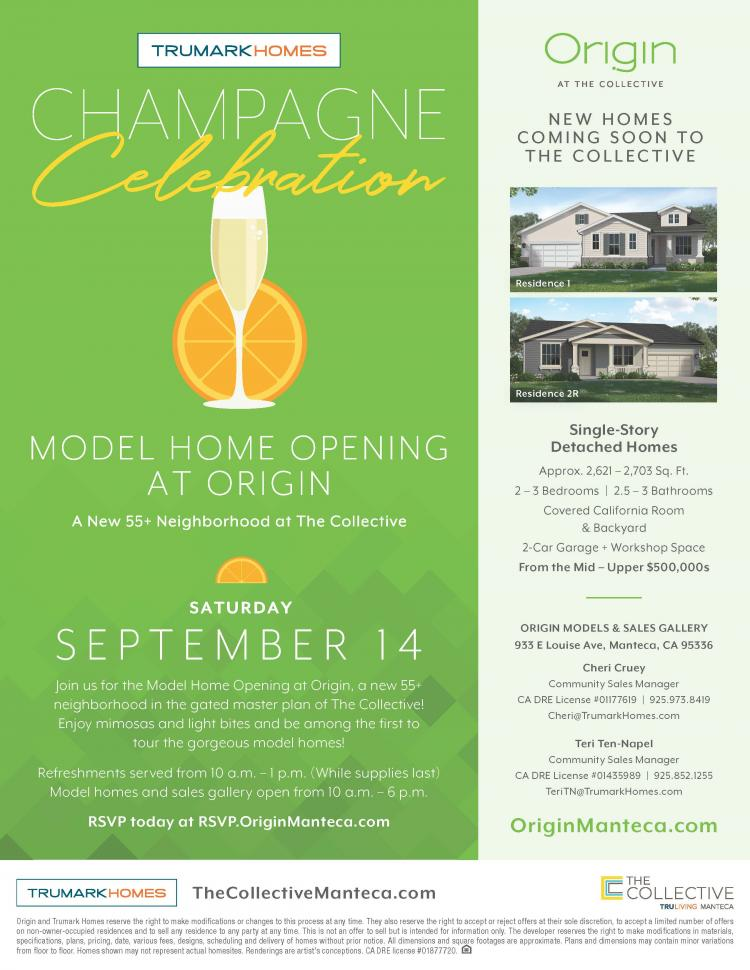 Champagne Celebration - Model Home Opening at Origin at The Collective