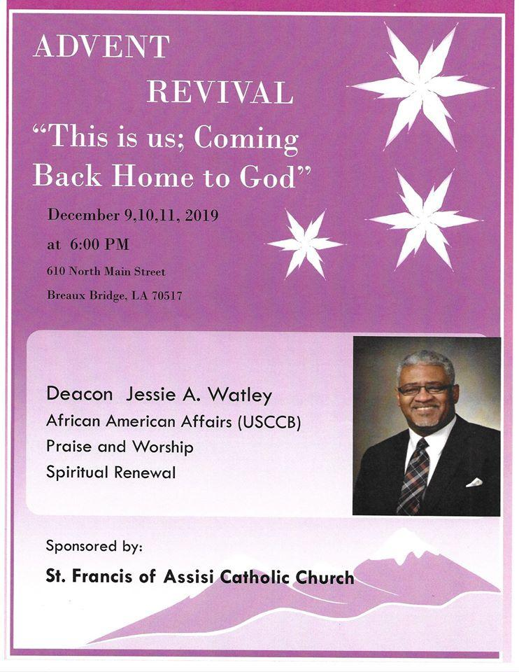 Advent Mission, St. Francis of Assisi Catholic Church
