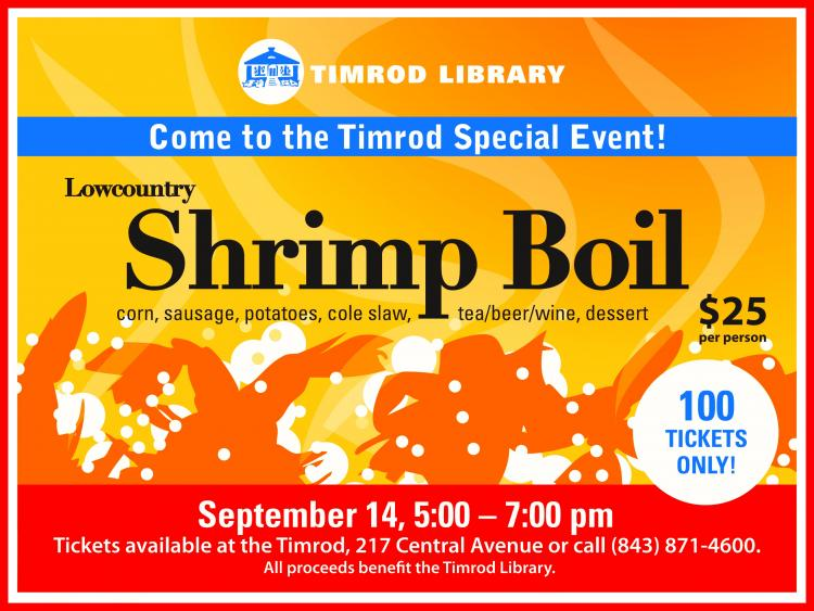 Timrod Library Lowcountry Shrimp Boil
