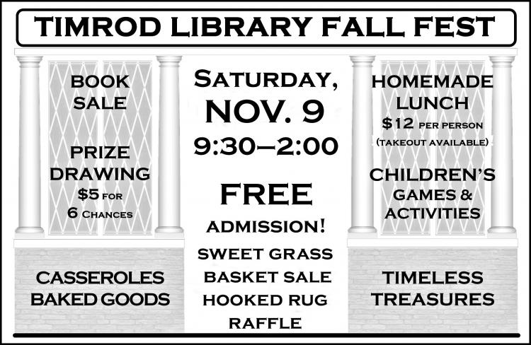 Timrod Library Fall Fest